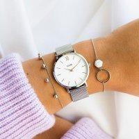 Cluse CG1519203003 Silver White/ Black Strap Gift Box zegarek klasyczny Minuit