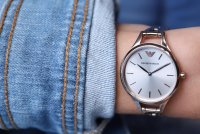 Emporio Armani AR11055 zegarek różowe złoto klasyczny Ladies bransoleta