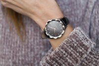 Esprit ES109252004 zegarek srebrny klasyczny Damskie pasek
