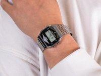 Casio Vintage ZESTAW-19-CV-GIFT-SET-SILVER CASIO A158WEAD-1EF + KALKULATOR CASIO SL-1000SC + DŁUGOPIS zegarek fashion/modowy Vintage