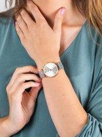 Zegarek damski fashion/modowy Cluse Minuit CW0101203004 Mesh Rose Gold/Silver szkło mineralne - duże 5