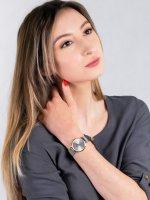 Zegarek damski fashion/modowy Cluse Minuit CW0101203015 Mesh Gold Silver szkło mineralne - duże 4