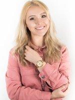 Zegarek damski fashion/modowy Guess Bransoleta W0638L2 szkło mineralne - duże 4