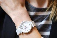 zegarek Fossil ES4401 biały Carlie