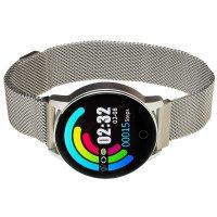 zegarek Garett 5903246286311 kwarcowy damski Damskie Smartwatch Garett Lady Bella srebrny stalowy