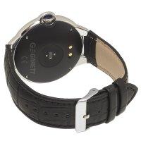 zegarek Garett 5903246286458 kwarcowy damski Damskie Smartwatch Garett Women Karen RT czarno-srebrny skórzany