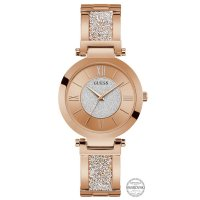 Guess W1288L3 zegarek różowe złoto klasyczny Damskie bransoleta