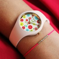ICE Watch ICE.017582 zegarek biały klasyczny Ice-Flower pasek