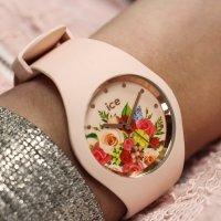 ICE Watch ICE.017583 ICE Flower Pink bouquet Rozm. M Ice-Flower klasyczny zegarek beżowy