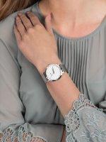 Zegarek damski klasyczny  Pavane CL18301 Silver Stones szkło mineralne - duże 5
