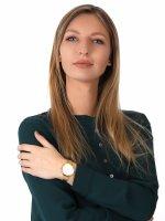 Zegarek damski klasyczny  Slim V240LXGWMG ARK LILLE - GOLD szkło szafirowe - duże 4