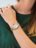 Zegarek damski klasyczny Caravelle Bransoleta 44P102 szkło mineralne - duże 5