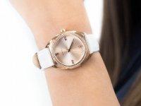 Zegarek damski klasyczny Caravelle Pasek 44L251 szkło mineralne - duże 6