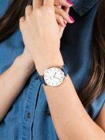 Zegarek damski klasyczny Cluse La Boheme CL18025 Rose Gold White/ Blue Denim szkło mineralne - duże 5