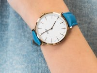 Zegarek damski klasyczny Cluse La Boheme CL18033 Rose Gold White/Retro Blue szkło mineralne - duże 6