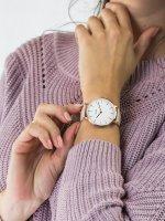 Zegarek damski klasyczny Cluse La Boheme CW0101201012 Rose Gold White/Pink szkło mineralne - duże 5
