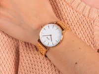 Zegarek damski klasyczny Cluse La Boheme CW0101201024 Rose Gold White szkło mineralne - duże 6