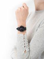 Zegarek damski klasyczny Cluse La Roche CL40001 Full Black Marble szkło mineralne - duże 5
