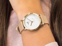 Zegarek damski klasyczny Cluse La Roche CL40101 Petite Gold White Marble/Nude szkło mineralne - duże 6