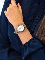 Zegarek damski klasyczny Cluse La Roche CL40103 Petite Rose Gold White Marble/Grey szkło mineralne - duże 5