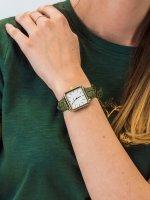 Zegarek damski klasyczny Cluse La Tetragone CL60016 Gold White/Green Alligator Jungle szkło mineralne - duże 5