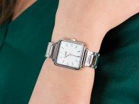 Zegarek damski klasyczny Cluse La Tetragone CL60025S Three Link Silver/White Pearl szkło mineralne - duże 6