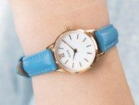 Zegarek damski klasyczny Cluse La Vedette CL50026 Rose Gold White/Retro Blue szkło mineralne - duże 6