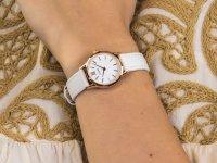 Zegarek damski klasyczny Cluse La Vedette CL50030 Rose Gold White/White szkło mineralne - duże 6