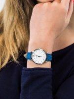 Zegarek damski klasyczny Cluse Minuit CL30030 Silver White/Denim Blue szkło mineralne - duże 5