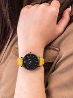 Zegarek damski klasyczny Cluse Minuit CL30033 Full Black/Mustard szkło mineralne - duże 5