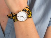 Zegarek damski klasyczny Cluse Minuit CL30057 CLUSE x Mino Design Minuit Rose Gold White/Bow Wow szkło mineralne - duże 6