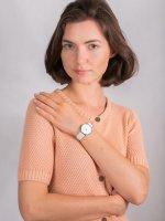 Zegarek damski klasyczny Cluse Minuit CL30060 La Perle Silver White Pearl/White  szkło mineralne - duże 4