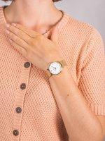 Zegarek damski klasyczny Cluse Minuit CW0101203007 Mesh Gold/White szkło mineralne - duże 5