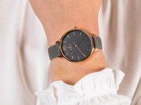 Zegarek damski klasyczny Obaku Denmark Bransoleta V209LXVJRJ szkło mineralne - duże 6