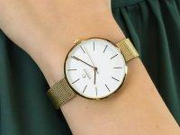 Zegarek damski klasyczny Obaku Denmark Bransoleta V211LXGIMG szkło mineralne - duże 6