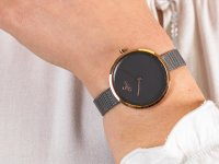 Zegarek damski klasyczny Obaku Denmark Bransoleta V227LXVJMJ szkło szafirowe - duże 6