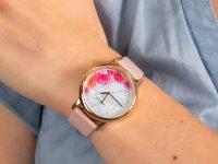 Zegarek damski klasyczny Timex Full Bloom TW2U18500 szkło mineralne - duże 6