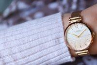 Lorus RG232QX9 zegarek różowe złoto klasyczny Fashion bransoleta