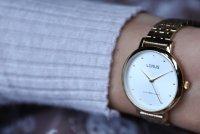 Lorus RG272PX9 zegarek złoty klasyczny Klasyczne bransoleta