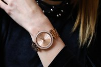 zegarek Michael Kors MK3192 różowe złoto Darci