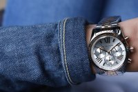 Michael Kors MK5735 LEXINGTON Lexington fashion/modowy zegarek srebrny
