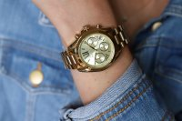 zegarek Michael Kors MK5798 złoty Mini Bradshaw