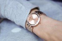 Michael Kors MK3366 zegarek różowe złoto fashion/modowy Mini Darci bransoleta