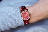 Michael Kors MK3896 zegarek czerwony fashion/modowy Norie bransoleta