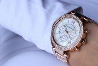 zegarek Michael Kors MK5491 różowe złoto Parker