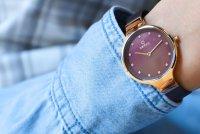 Obaku Denmark V173LXVNMN zegarek damski fashion/modowy Slim bransoleta