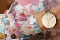 Obaku Denmark V211LXGIMC1 zegarek złoty klasyczny Slim bransoleta