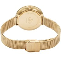 Obaku Denmark V211LXGIMG zegarek złoty klasyczny Slim bransoleta
