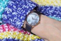 Obaku Denmark V217LXVNMN FIN - WALNUT Slim fashion/modowy zegarek różowe złoto