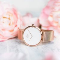Obaku Denmark V230LXVWMV zegarek różowe złoto klasyczny Slim bransoleta